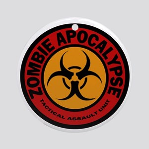 ZOMBIE APOCALYPSE Tactical Assault  Round Ornament